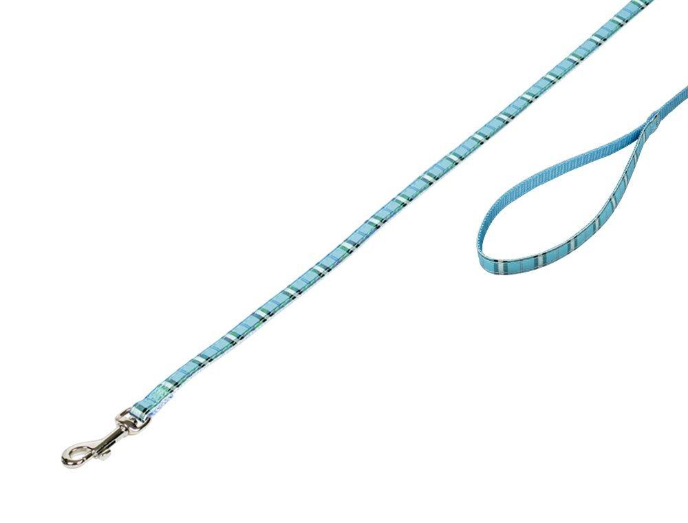 Nobby TARTAN vodítko 120cm / 10mm modrá