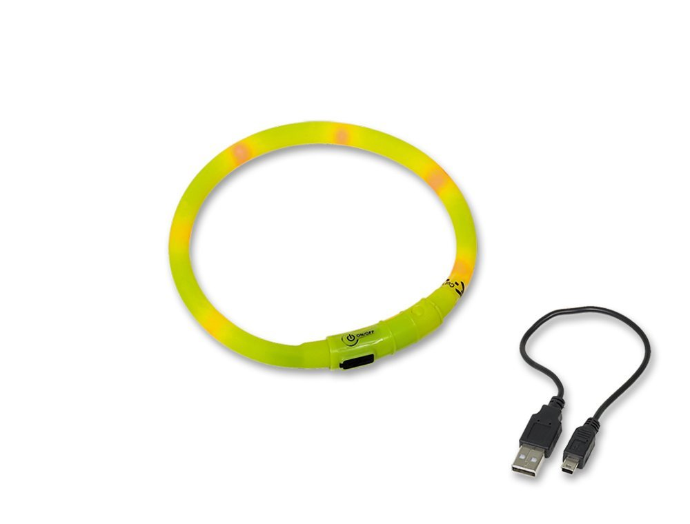 Nobby Led Visible svítící kroužek silikon žlutá 40cm