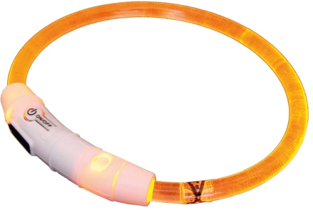Nobby Starlight svítící obojek ABS plast oranžová 35cm
