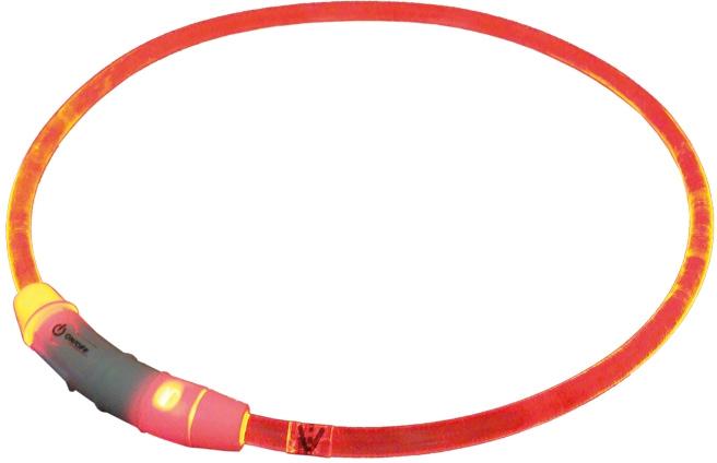 Nobby Starlight svítící obojek ABS plast červená 65cm