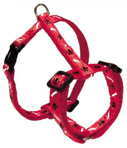 Nobby MINI textilní postroj XS-S 20-35cm / 10mm červený