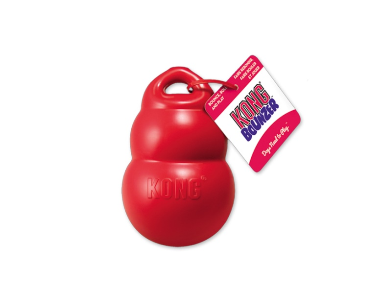 Kong Bounzer Medium gumová interaktivní hračka 15x10cm