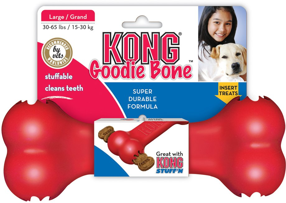 Kong Goodie Bone hračka pro psy gumová kost L 21,5cm