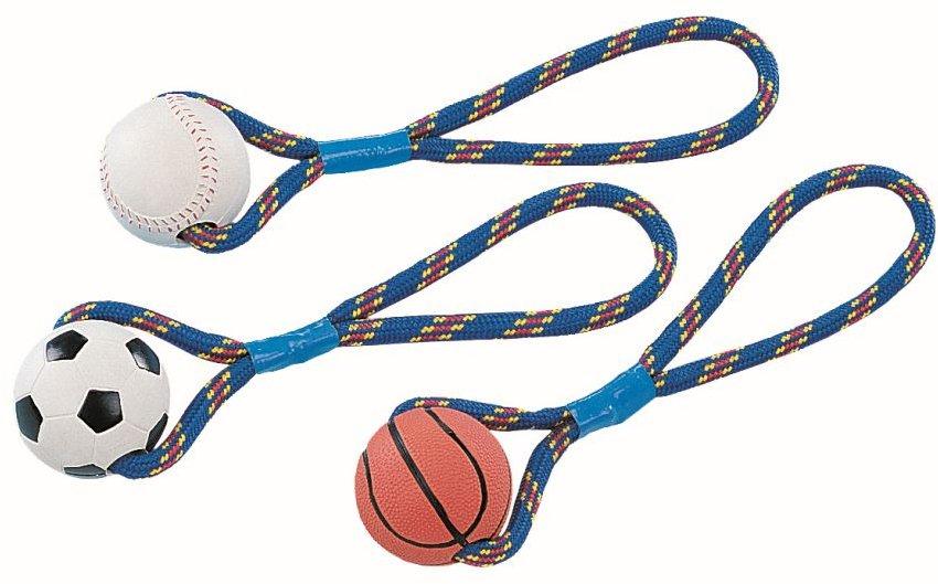 Nobby hračka silný gumový míč s lanem 300g / 8cm 1ks