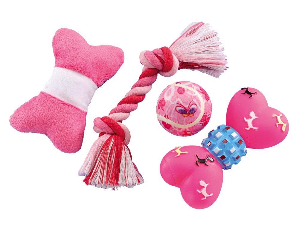 Nobby Puppy Set růžový set hraček 4ks
