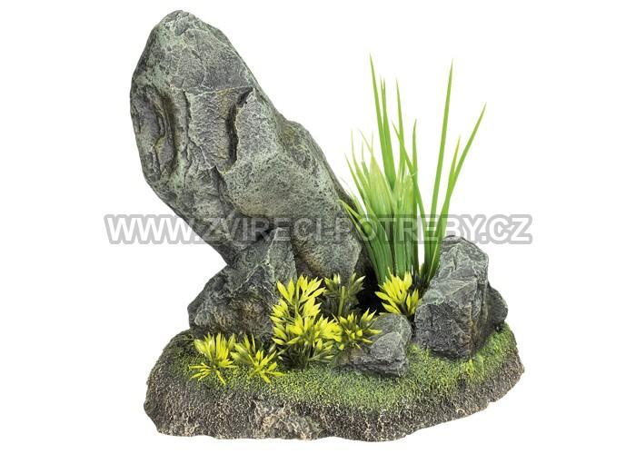 Nobby akvarijní dekorace skála s rostlinou 24 x 16 x 29 cm