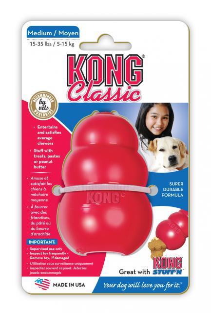 Kong Classic Medium hračka granát 8cm / 140g
