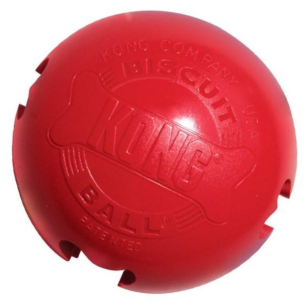 Kong Biscuit Ball Large gumová plnící hračka 10cm