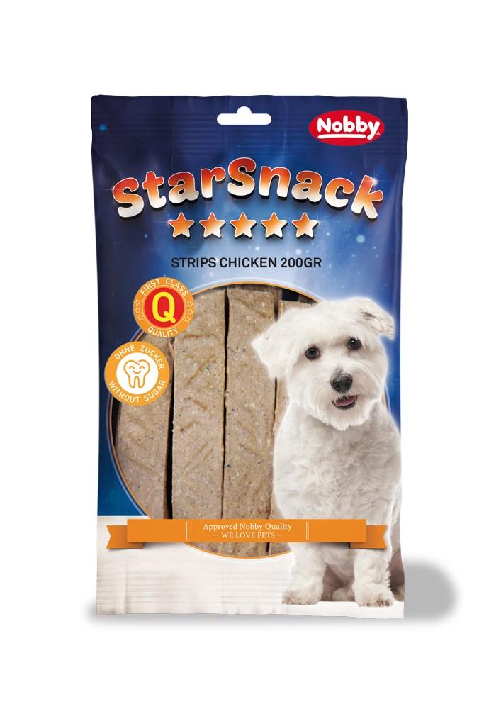 Nobby StarSnack Strips pamlsek plátky kuřecí 20ks / 200g