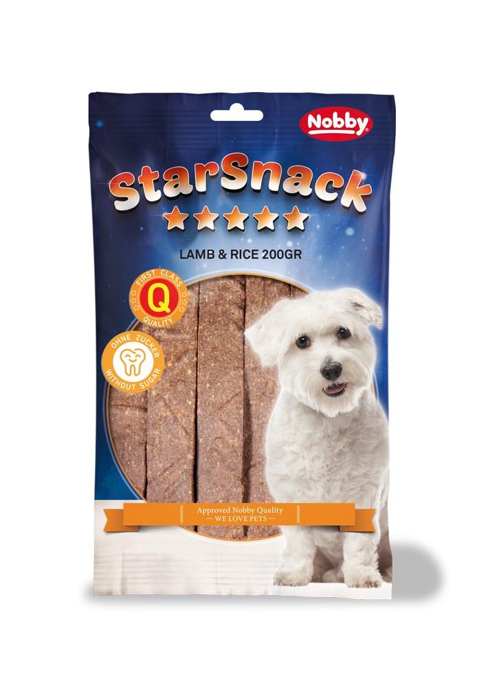 Nobby StarSnack Strips pamlsky plátky jehně+rýže 20ks / 200g
