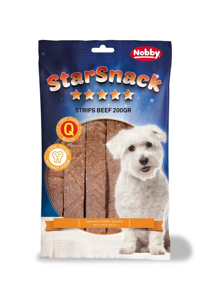 Nobby StarSnack Strips pamlsky plátky hovězí 20ks / 200g