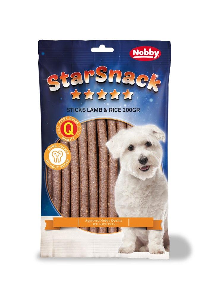 Nobby StarSnack Sticks pamlsky jehněčí 20ks / 200g