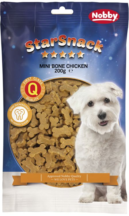 Nobby StarSnack Mini Bones kuřecí kostičky 200g
