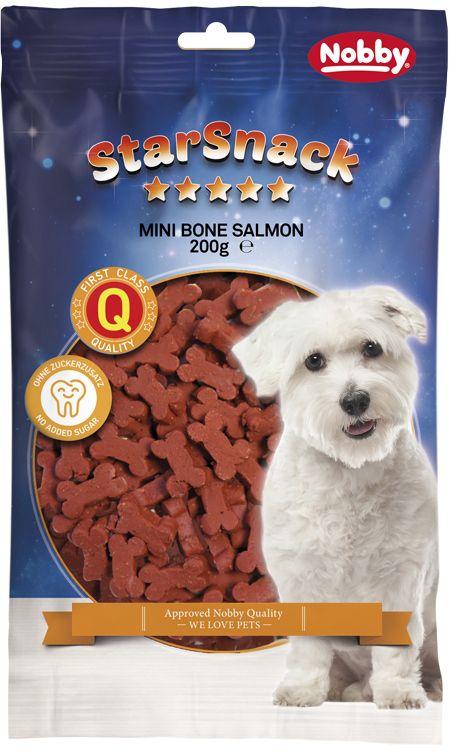 Nobby StarSnack Mini Bones Salmon kostičky 200g