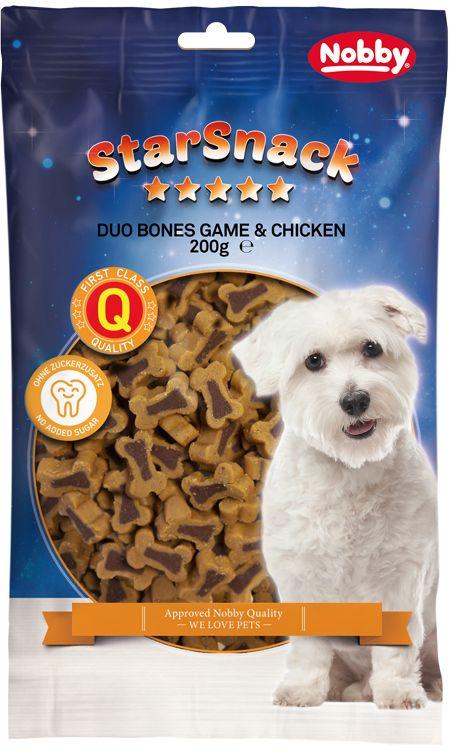 Fotografie StarSnack Duo Bones Game & Chicken odměny 200g