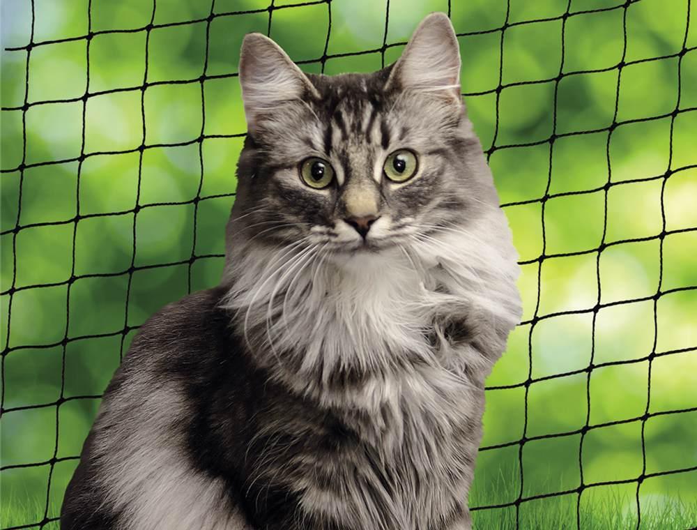 Nobby ochranná síť S pro kočky černá 2x3m