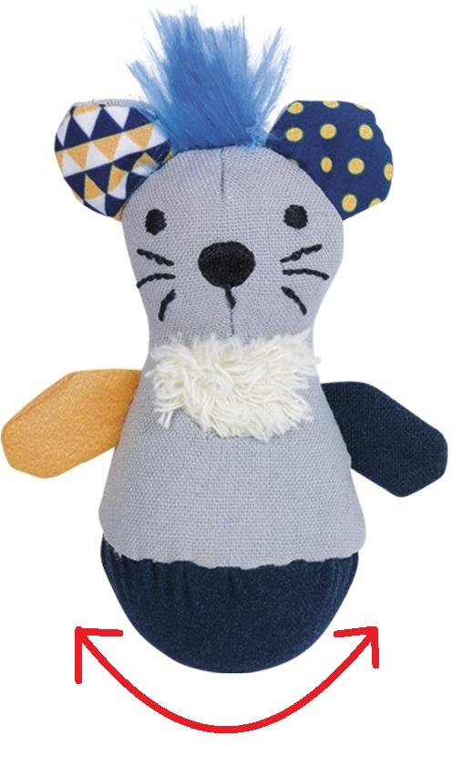"""Nobby hračka pro kočky """"stand-up"""" myška s catnipem 19cm"""