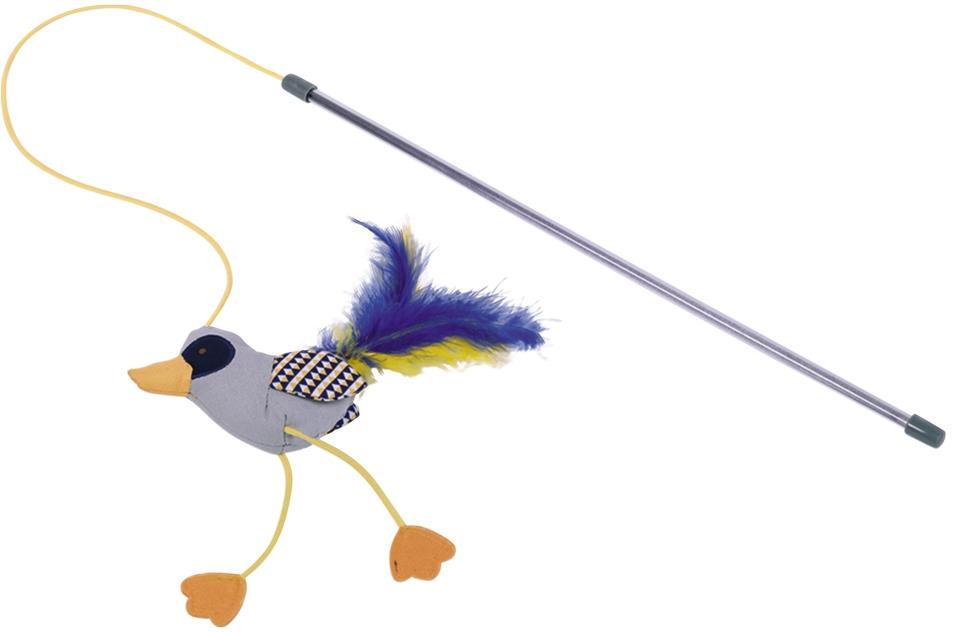 Nobby hračka pro kočky udice s ptáčkem a catnipem 46cm