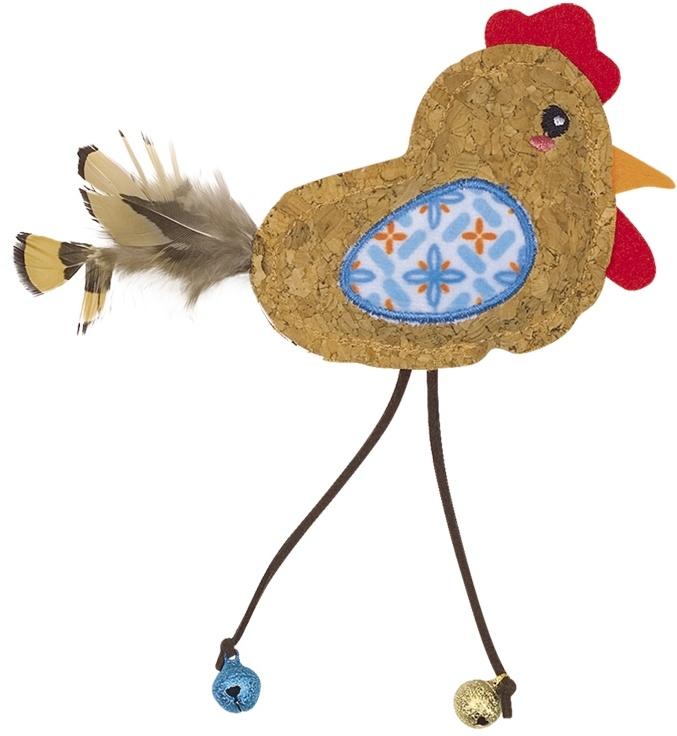 Nobby hračka pro kočky korkový ptáček s rolničkami 17cm