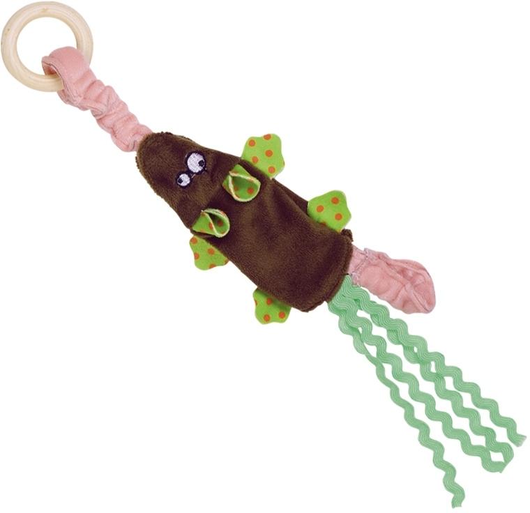 Nobby hračka pro kočky plyšová myška s dřevěným kroužkem 29,5 cm