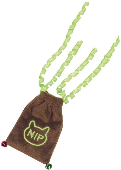 Nobby hračka pro kočky plyšový váček s doplnitelným catnipem a rolničkami 9/20 cm