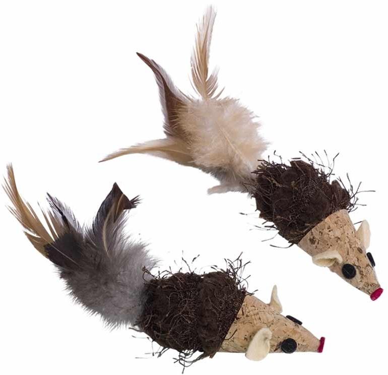 Nobby hračka pro kočky korkové myšky 7/12 cm 2 ks