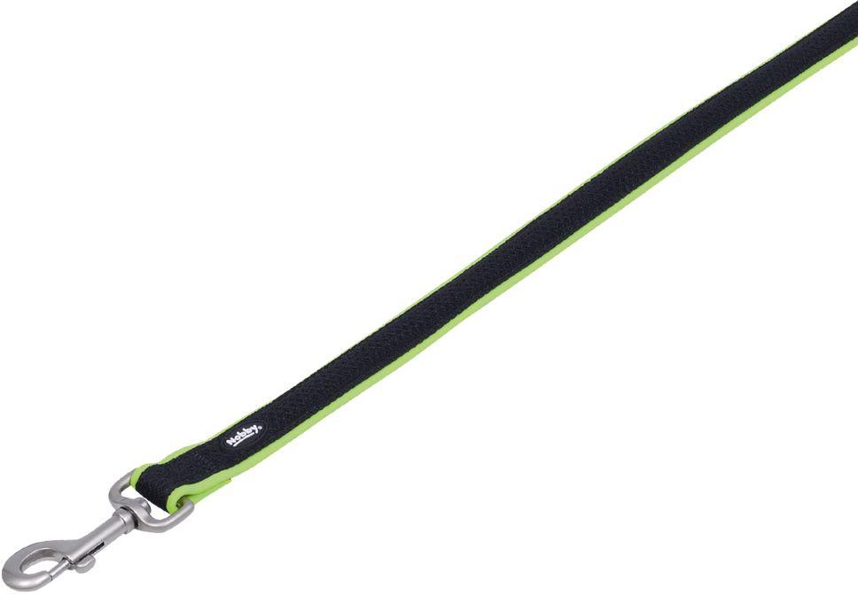 Nobby MESH PRENO vodítko neoprén zelená neon XS/S 120cm
