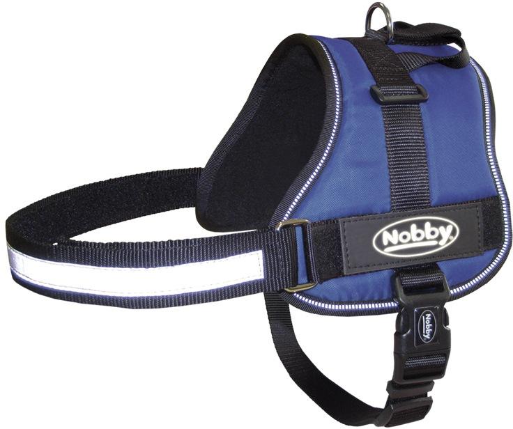 Nobby Seguro bezpečnostní postroj pro psa M modrý 60-75cm