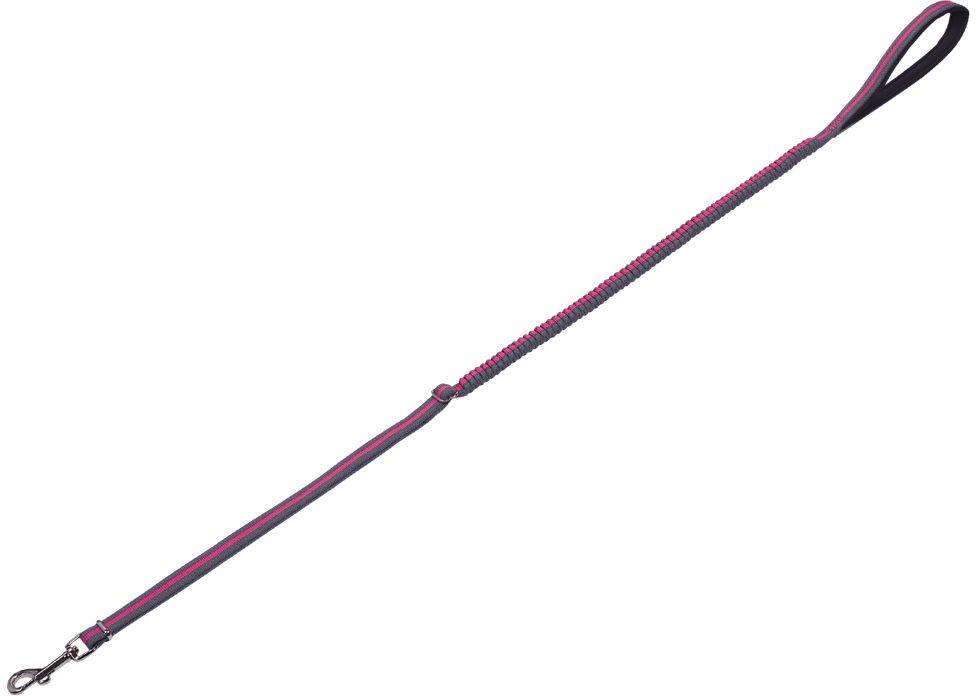 Nobby VARIADO vodítko s amortizérem M-L 110-140cm růžová
