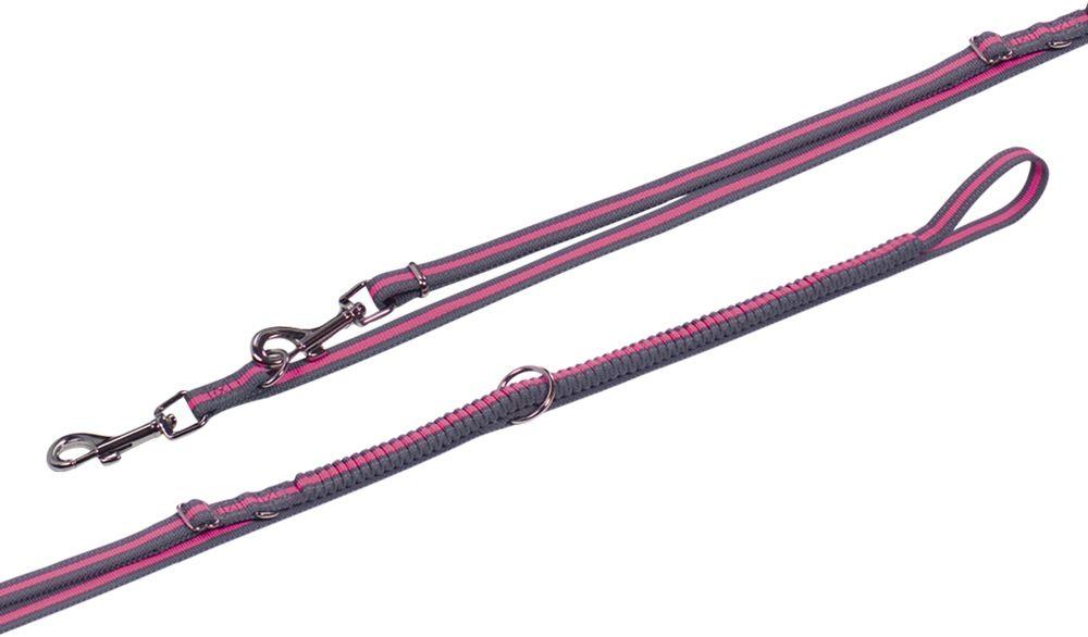 Nobby VARIADO vodítko s amortizérem M-L 210-240cm růžová