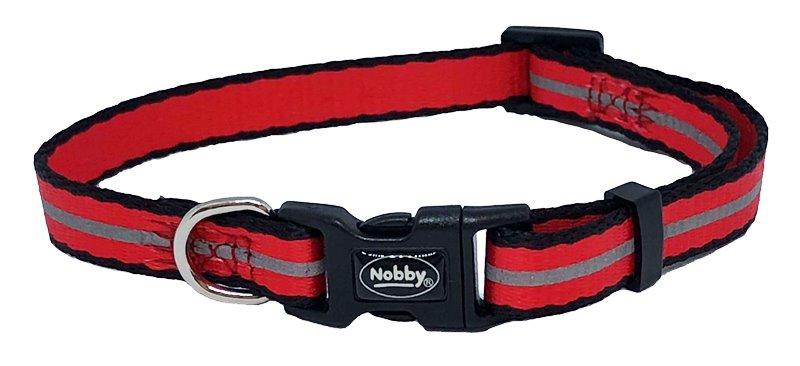 Nobby Mini Reflect reflexní obojek XXS 13-20cm červený