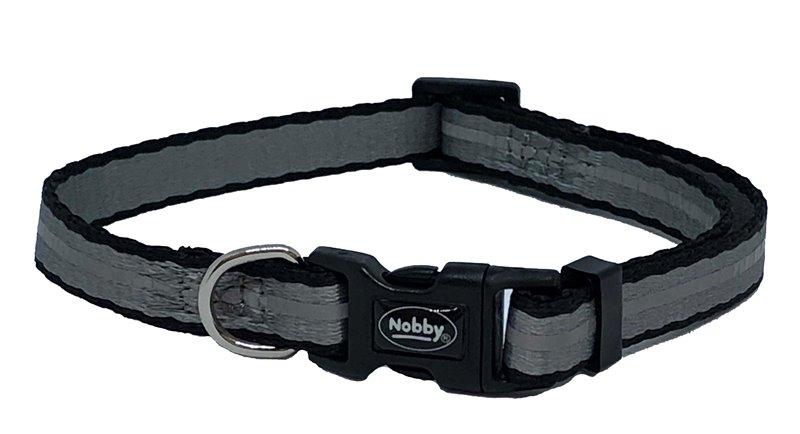 Nobby Mini Reflect reflexní obojek XXS 13-20cm šedý