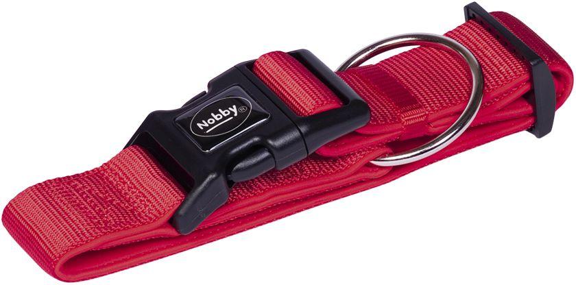Nobby CLASSIC PRENO extra široký obojek neoprén červená L 32-45cm