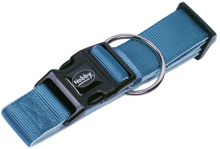 Nobby CLASSIC PRENO extra široký obojek neoprén světle modrá L-XL 40-55cm