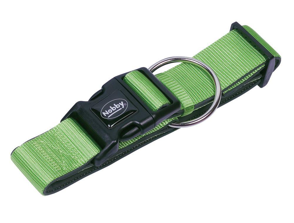 Nobby CLASSIC PRENO extra široký obojek neoprén zelená L 32-45cm