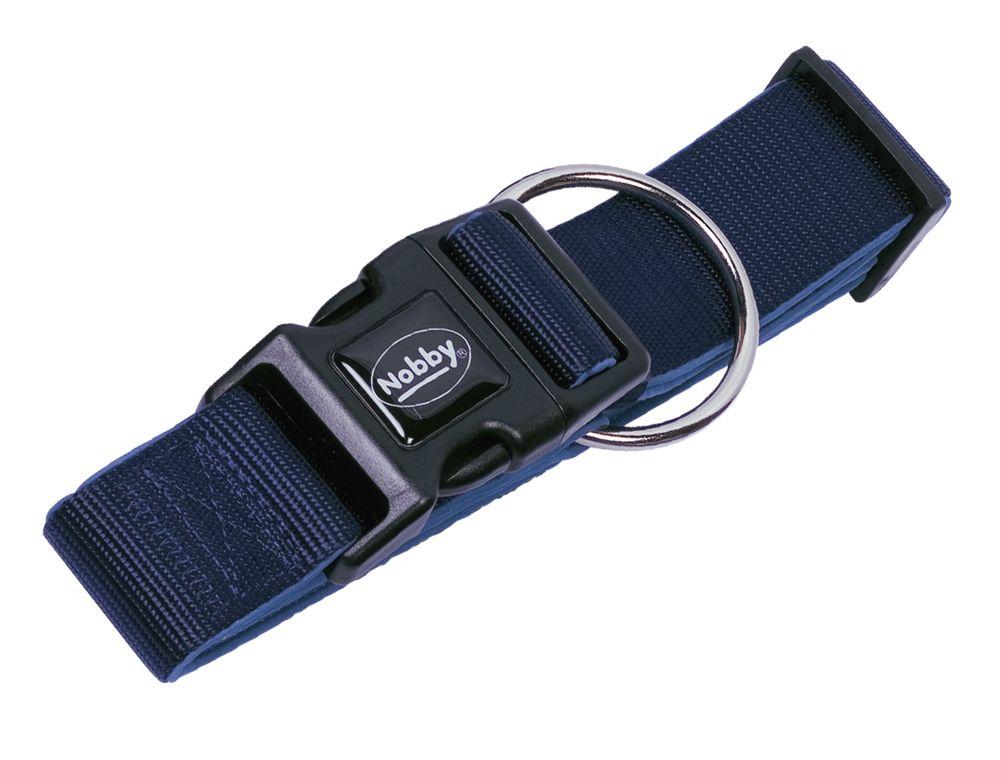 Nobby CLASSIC PRENO extra široký obojek neoprén tmavě modrá L 32-45cm