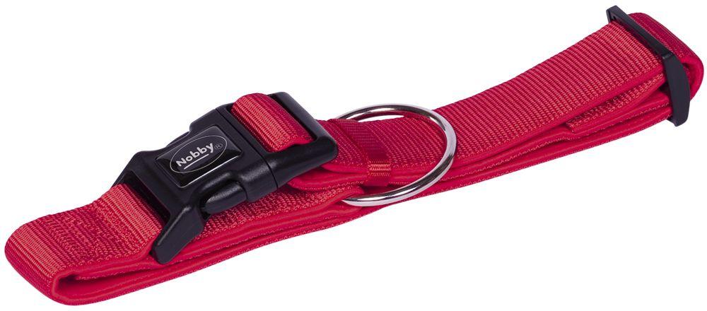 Nobby CLASSIC PRENO extra široký obojek neoprén červená XL 55-70cm