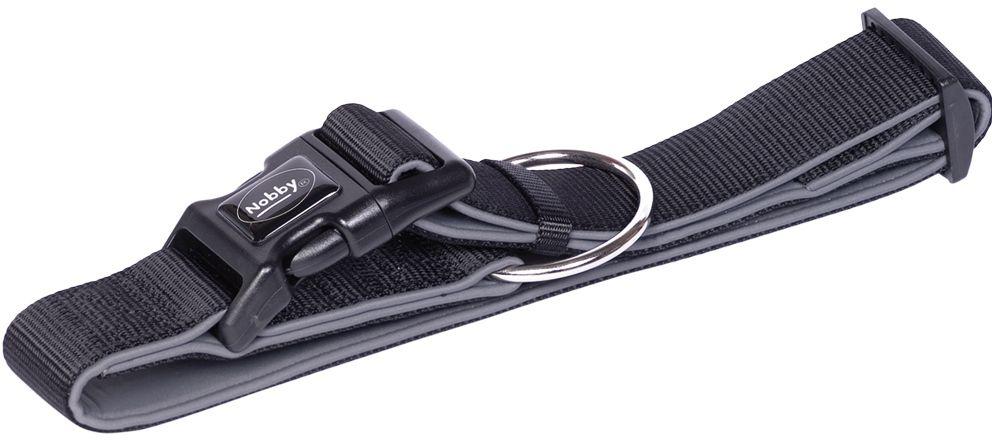 Nobby CLASSIC PRENO extra široký obojek neoprén černá XL 55-70cm
