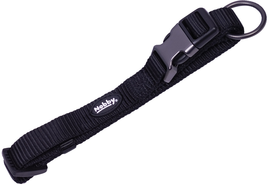 Nobby CLASSIC COMFORT obojek nylon černý M-L 50-65cm