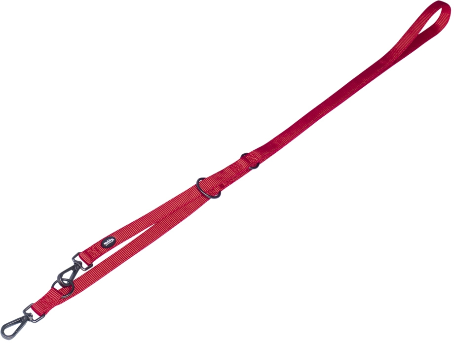 Nobby CLASSIC COMFORT vodítko nylon červená M-L 2m 25mm