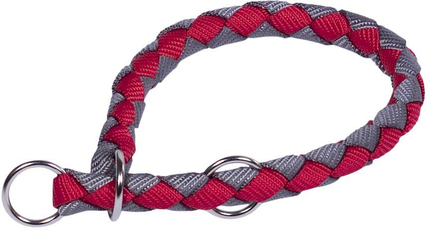 Nobby CORDA polostahovací kulatý obojek L červená