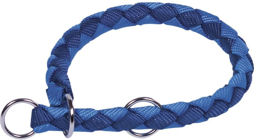 Nobby CORDA polostahovací kulatý obojek L modrá