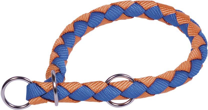 Nobby CORDA polostahovací kulatý obojek L oranžová