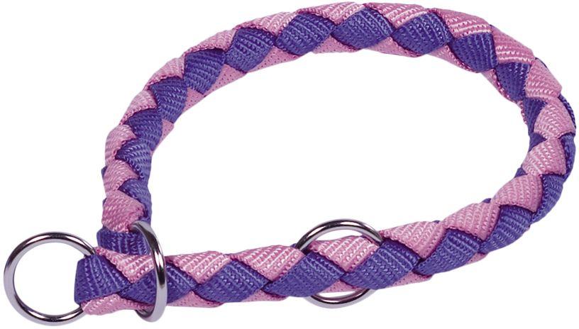 Nobby CORDA polostahovací kulatý obojek L fialová