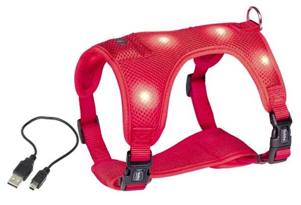 Nobby Flash Mesh LED svíticí postroj červený vel. L