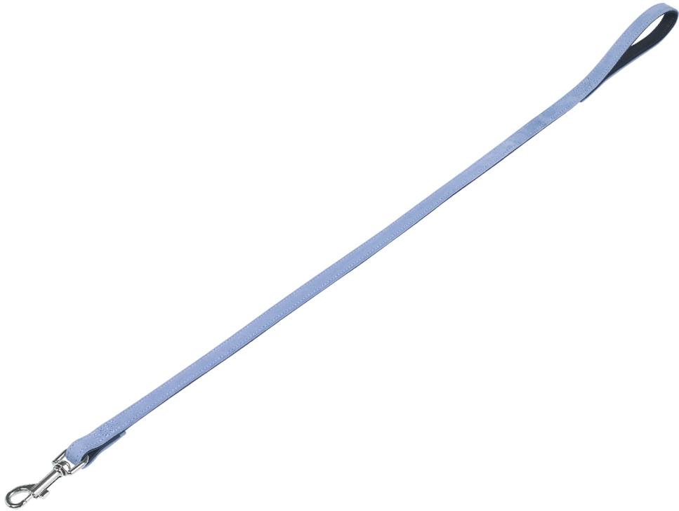 Nobby VELOURS vodítko ze semišové kůže S-M 1 m světle modrá