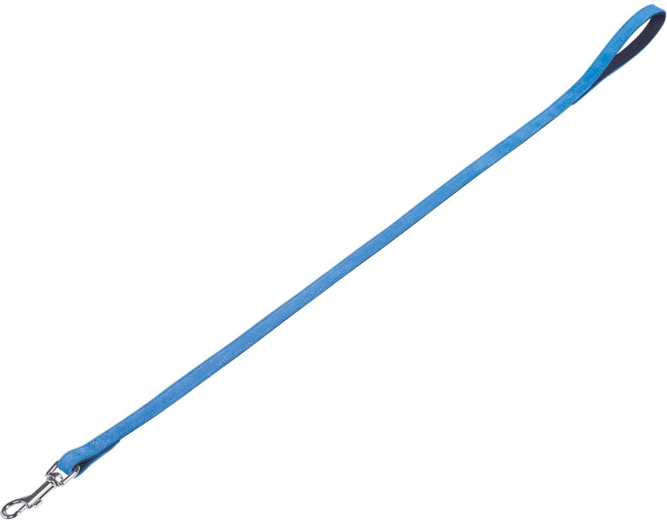 Nobby VELOURS vodítko ze semišové kůže L-XL 1 m tyrkysová