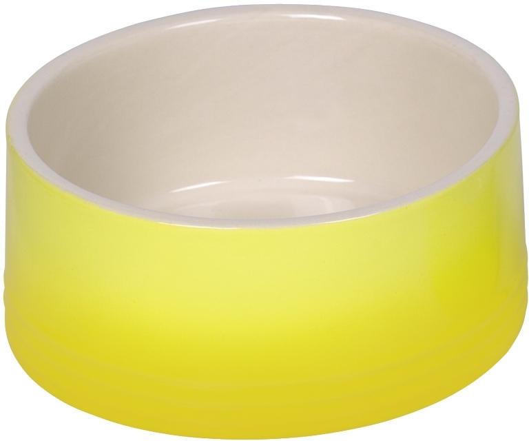 Nobby keramická miska GRADIENT žlutá 18,0 x 7,0 cm / 1,10 l