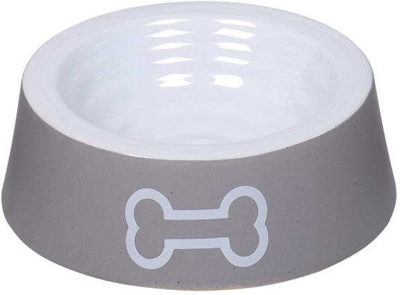 Nobby keramická miska BIG BONE šedo-bílá 16,5 x 5.0 cm / 0,18 l