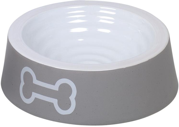 Nobby keramická miska BIG BONE šedo-bílá 20,0 x 6.0 cm / 0,45 l